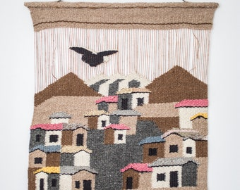 Vintage South American hand woven tapestry
