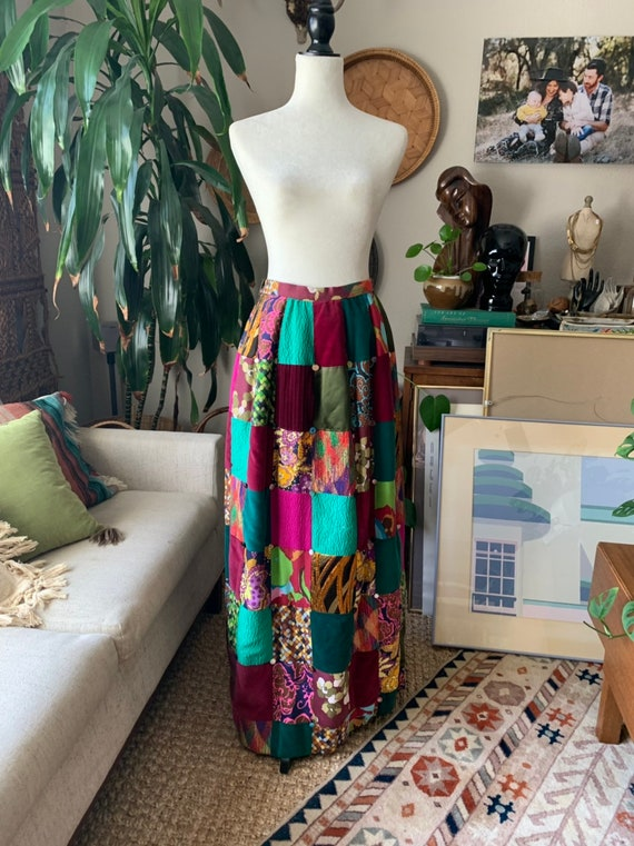 Vintage quilted patchwork skirt by Mountain Arisan