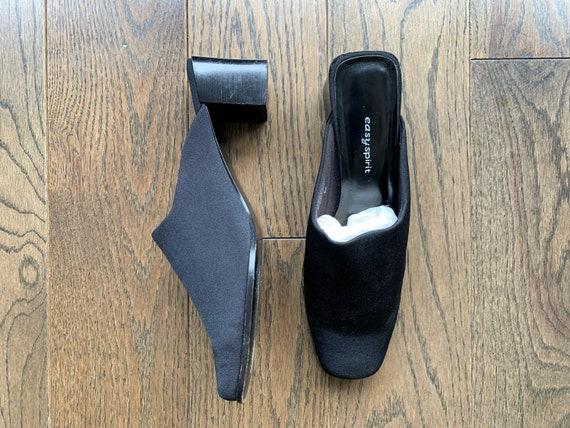 Minimalist Square Toe Mules, 9. Vintage 90s black