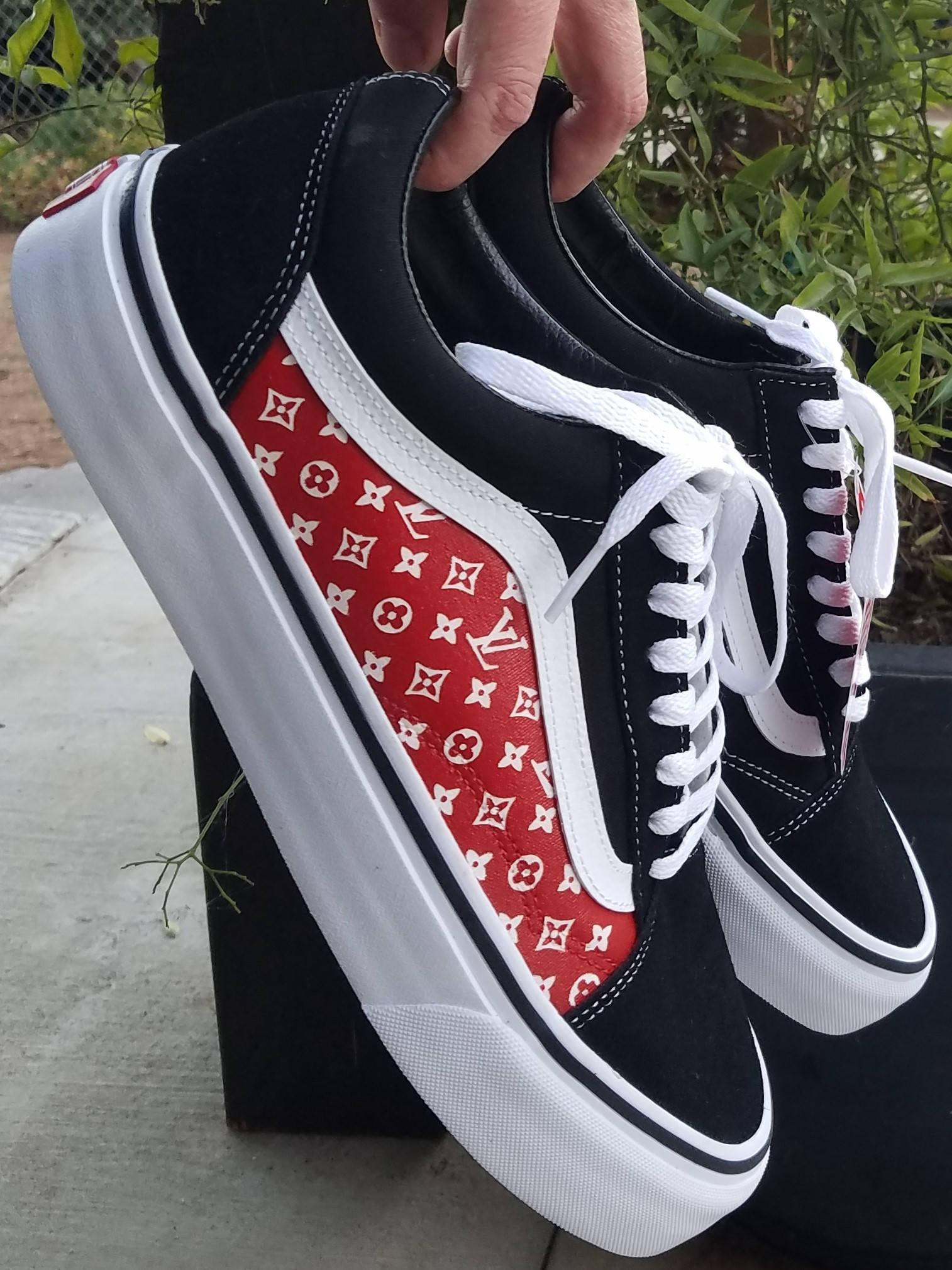Custom Louis Vuitton Vans Shoes  38dbed3b4