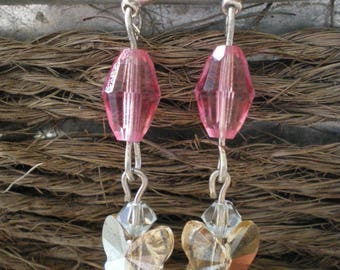 """GENESIS WITH A BUTTERFLY"" SWAROVSKI CRYSTALS EARRINGS"