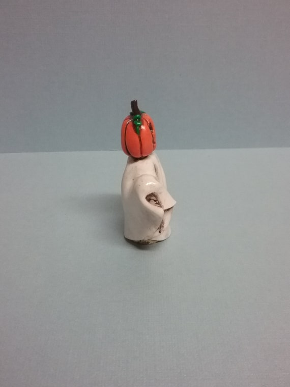 Hand Sculpted Halloween Haunted Tree Scene in Polymer Clay