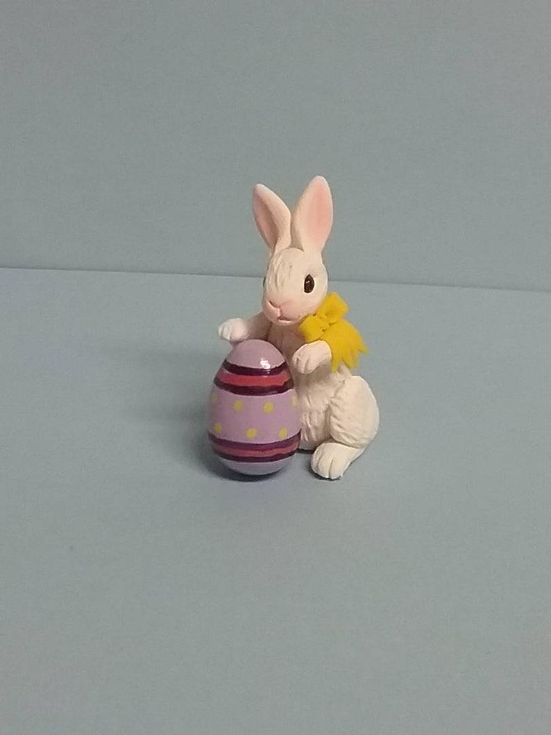 Porcelain Rabbit Doll  Rabbit  polymer clay  Rabbit toy Easter Bunny