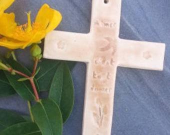 "Ceramic cross ""love is everything"""