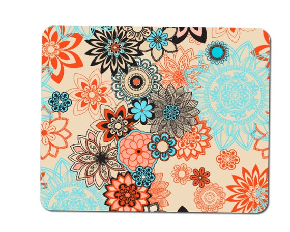 Floral Tranquility Mouse Mat Pad /& Coaster