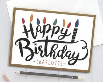 Personalized Birthday Card, Happy Birthday Card, Birthday Card, Birthday, Cards for Him, boyfriend, Handmade, Personalized