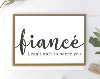 To Marry You Card for Fiance, anniversary card for fiance, Anniversary Card, Romantic, Anniversary, Fiance, Love, Cards Handmade, Unique