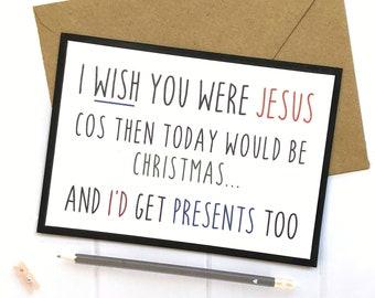 Funny Birthday Card Jesus Gift