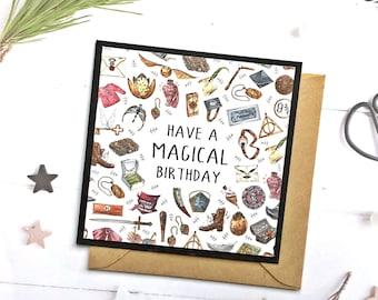 Harry Potter Birthday Card Etsy