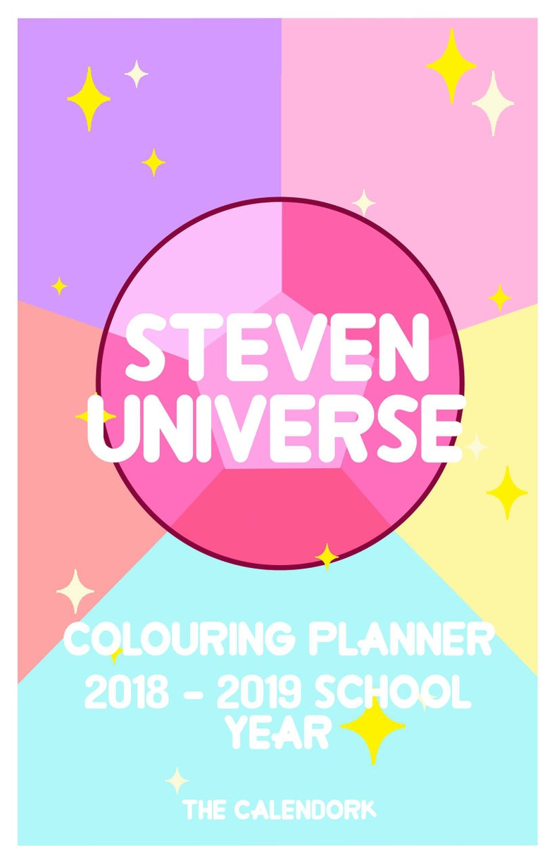 Steven Universe Coloring Day Planner 2018-2019