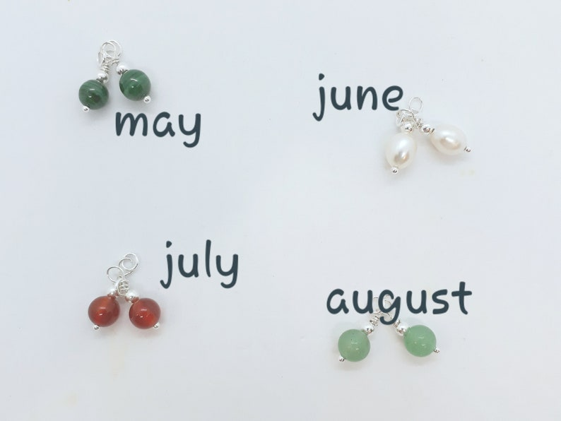 Initial Necklace Birthstone Necklace Initial and Birthstone Necklace
