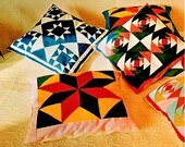 PDF Sewing Pattern Assorted Quilting Patchwork Cushions and Pillows from Templates and Motifs Reproduced