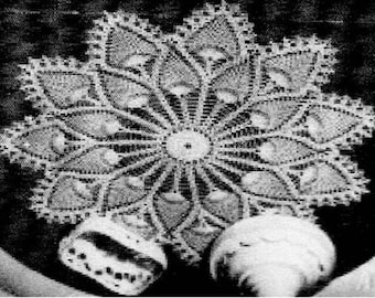 PDF Crochet Pattern, Pineapple Doily 2 tierd
