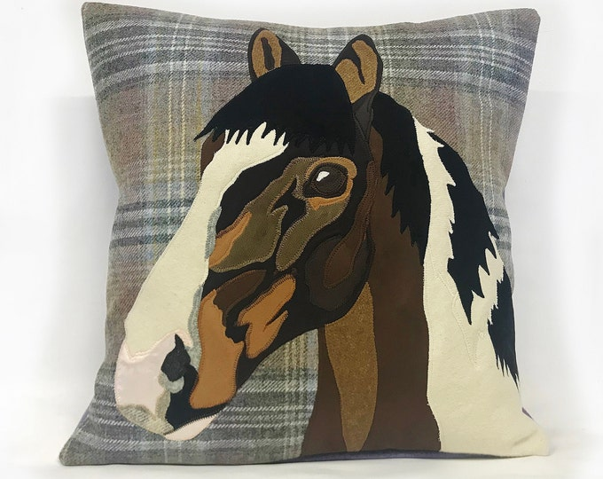 Featured listing image: bespoke horse cushion, pet cushion, horse portrait, pet portrait. horse cushion, animal cushion, animal, horse