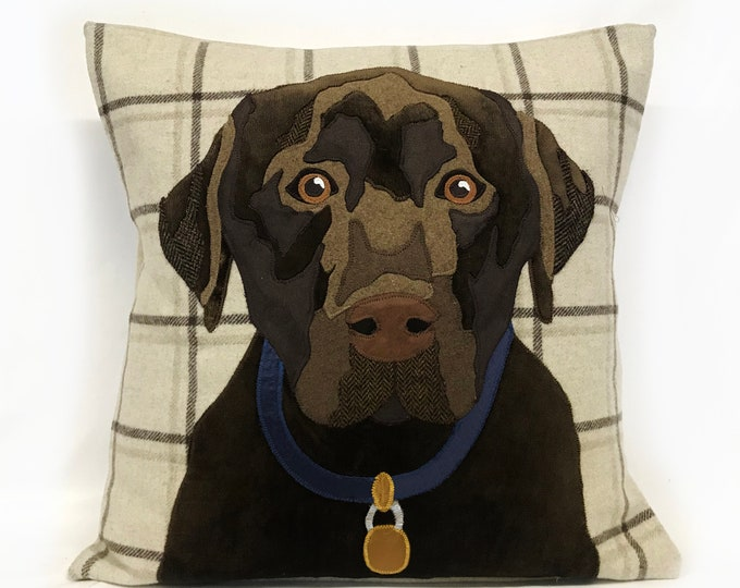 Featured listing image: bespoke dog cushion, dog cushion, dog portrait, pet cushion, pet portrait, animal cushion