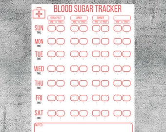 printable blood sugar tracker blood sugar log blood sugar diabetes