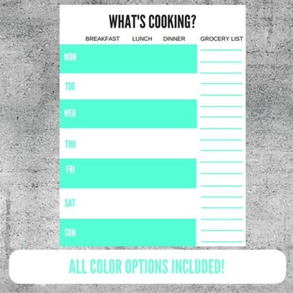 Essen Planung Arbeitsblatt Mahlzeit Prep Speisen Kochen