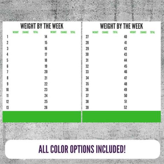 weight tracker weight log weight loss tracker weight loss etsy