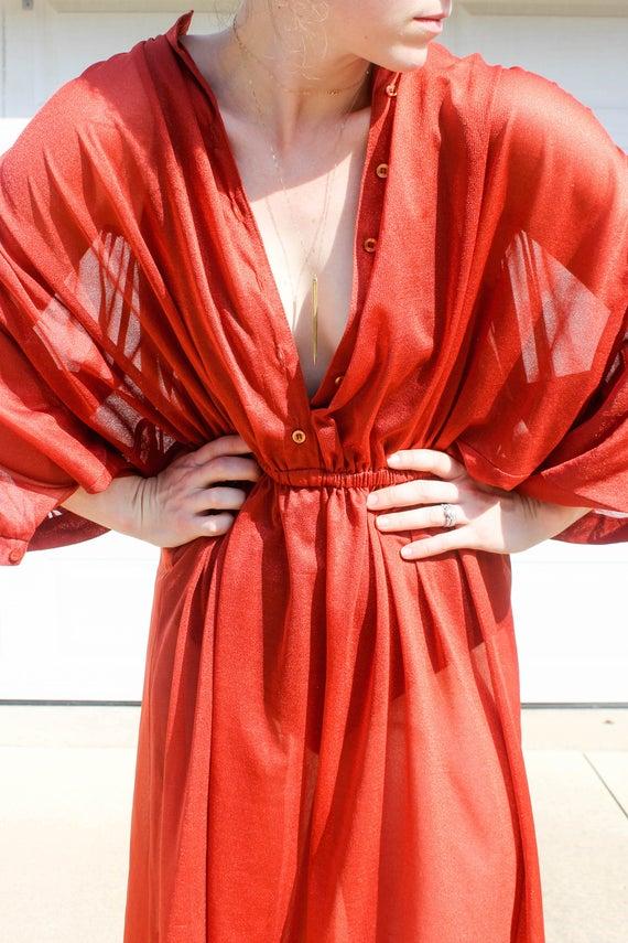 5a5b9e4293 Jahrgang Avantgarde Sheer Kleid