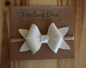 Pearl White Bow