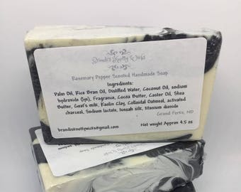 Rosemary Pepper Scent Artisan Soap
