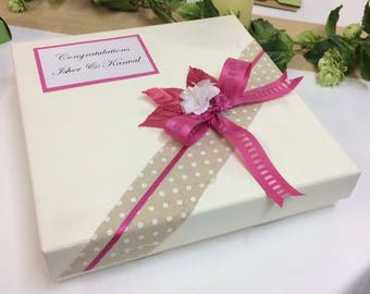 Personalised keepsake box ideal for birthdays, weddings, anniversaries