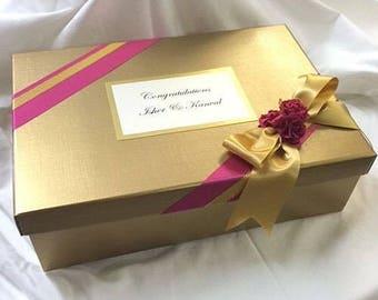 Personalised and decorated keepsake sari gift box