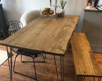 rustic dining table etsy rh etsy com Rustic Dining Room Table Decor Western Dining Room Table Sets