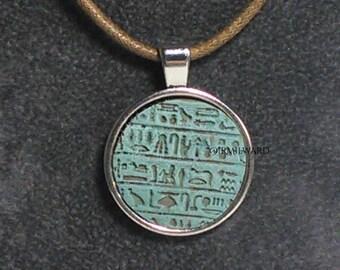 Egyptian hieroglyph pendant JADE (FAIENCE)