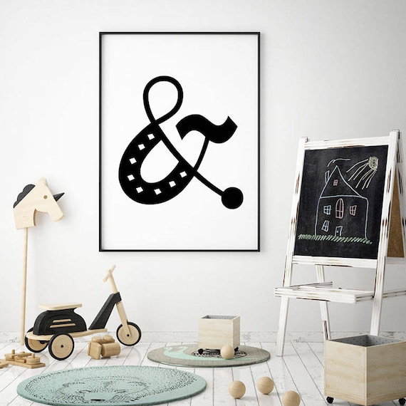 Whimsical Kids Room: Ampersand Symbol Printables Kids Room Whimsical Decor