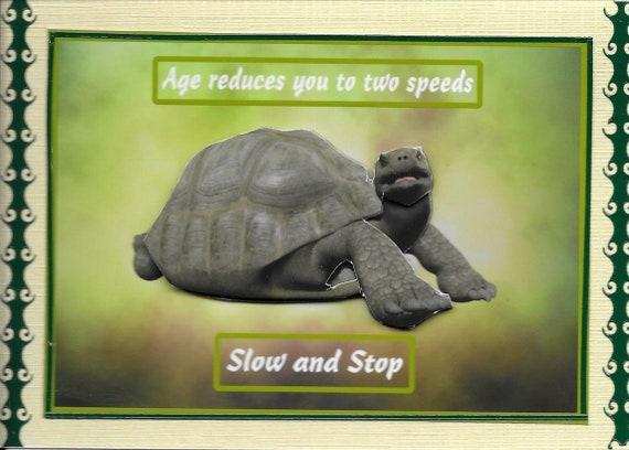 TORTOISE HANDMADE PERSONALISED RETIREMENT CARD