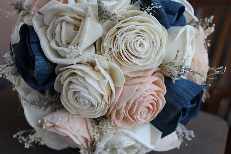 Alternative Bouquet Natural Bouquet Navy Bouquet Rustic Bouquet Wood Bouquet Camille Blush Bouquet Spring Bouquet wedding bouquet