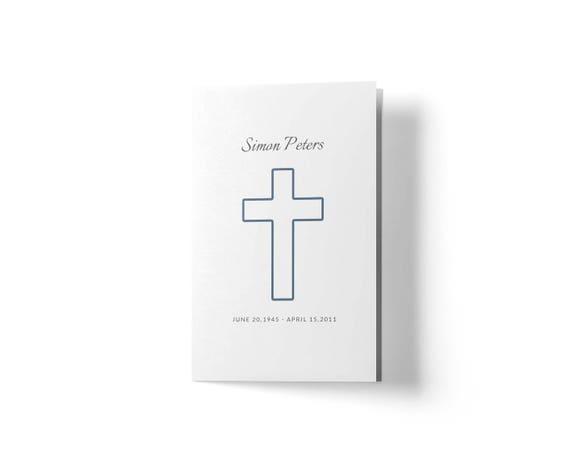 Minimalistische Beerdigung Programm Christian Funeral   Etsy