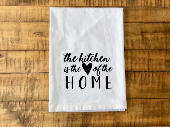 Enjoyable The Kitchen Is The Heart Of The Home Flour Sack Tea Towel Download Free Architecture Designs Sospemadebymaigaardcom