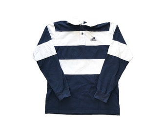 6ed1d07c425 Vintage Adidas Striped Rugby Shirt