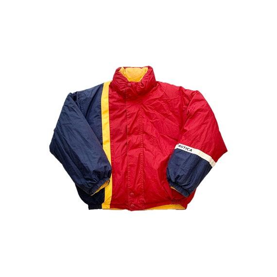 Vintage Nautica Reversible Puffer Jacket