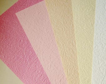 set of 5 sheets of A4 textured paper
