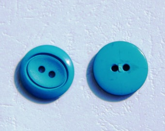 set of 2 fancy turquoise buttons