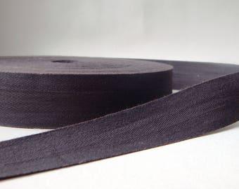 1 m width 3 cm dark grey Twill cotton Ribbon