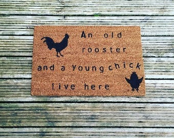 Rooster Chick Quirky Doormat