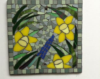 Mosaic Garden Plaque