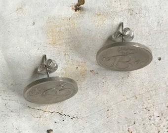 Vintage Mints. Studs Earrings/earrings.   Belgium.