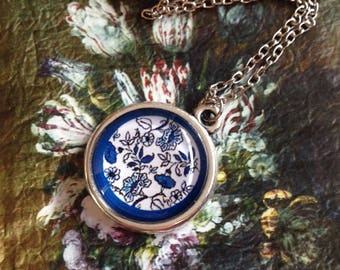 Necklace with Delft Blue Pendant