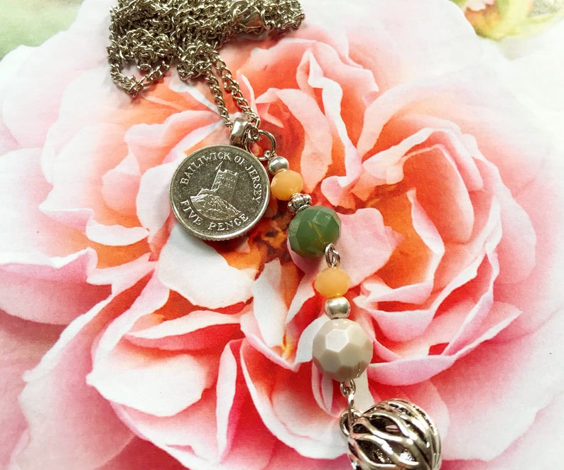 Necklace with coin Jersey and Pendant