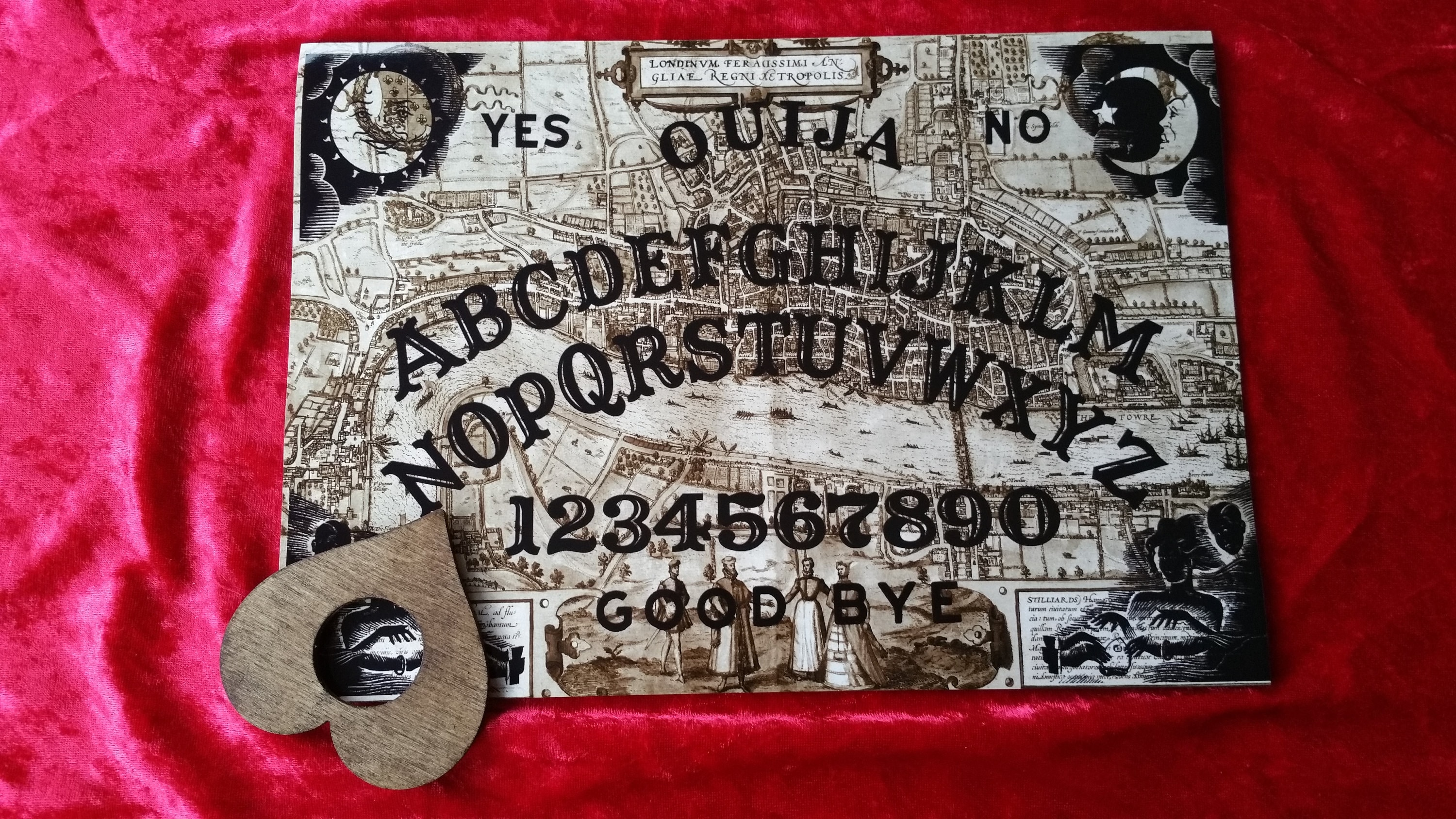 This is a graphic of Clever Ouija Board Drawing