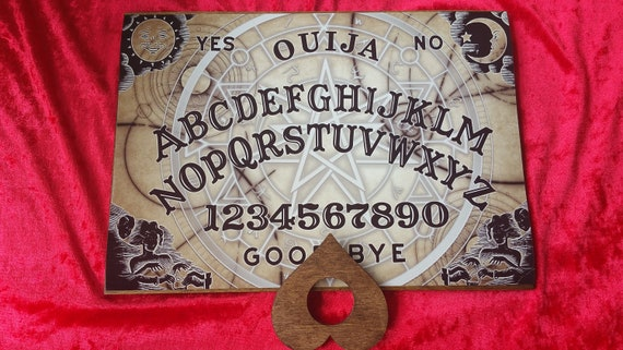 Wooden Ouija Board game & Planchette with Instructions Weeja Witchboard  Handmade Spooky Halloween Paranormal Spirit Talking Boards Mystical