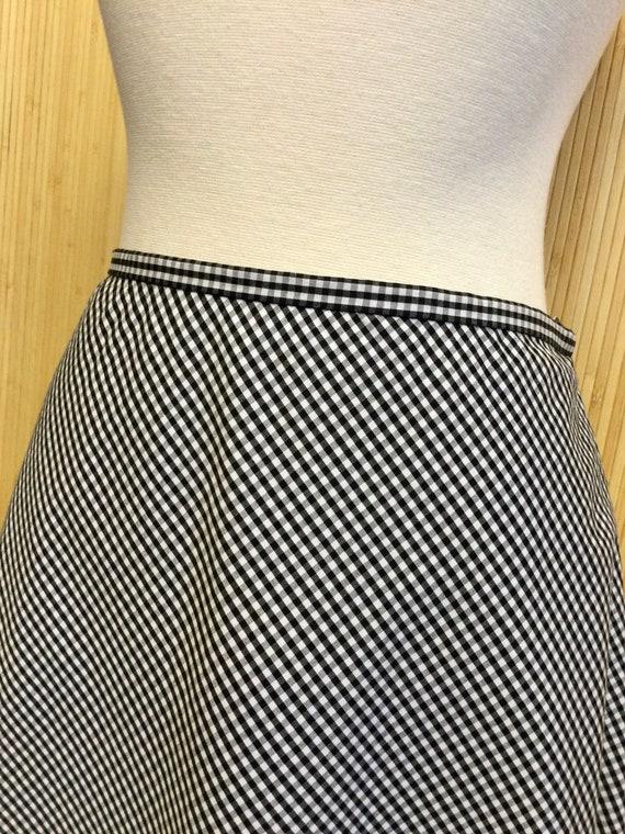 1990's Vintage Talbots Gingham Midi Skirt - image 6