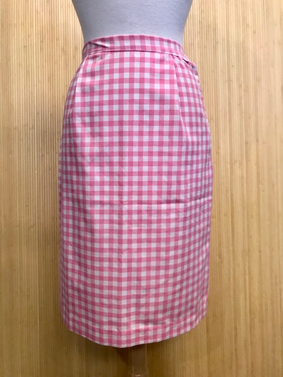1950s/60s Vintage Handmade Pink and White Cotton G
