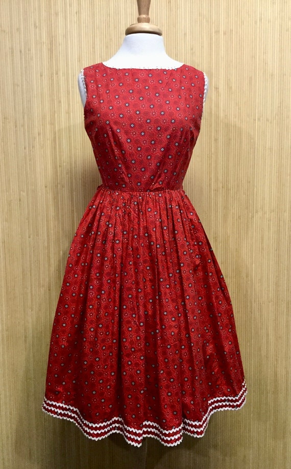 1950's Vintage Handmade Fit and Flare Dress