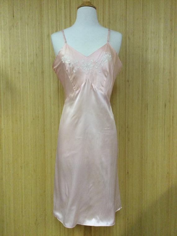 1960's Vintage Textron Lingerie Satiny Blush Pink
